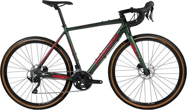 Principia Gravel Alu/Alu 700c RX400 2x10 hydr. disc grøn m. rød 2020